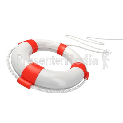 White Life Buoy Rescue Presentation clipart