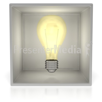 Light Bulb In Box  Presentation clipart