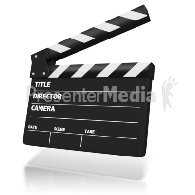 clipart of a movie clapboard