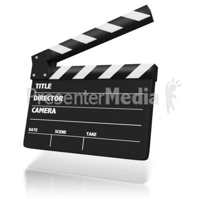 Film Clap Board Presentation clipart