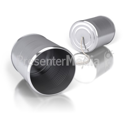 Tin Can Communication Presentation clipart