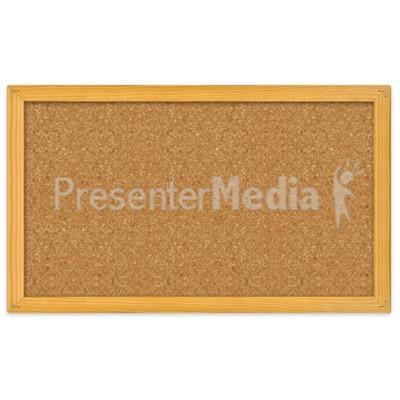 Blank Bulletin Board Presentation clipart