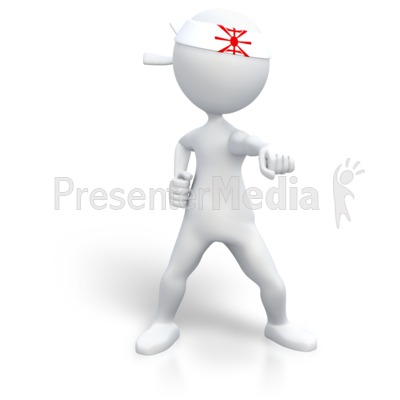 Martial Artist Punch Presentation clipart