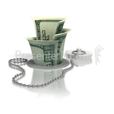 Money Down The Drain Presentation clipart