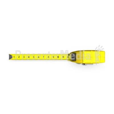 Tape Measure Top View Presentation clipart