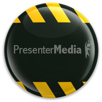 Black Button Caution Construction Presentation clipart