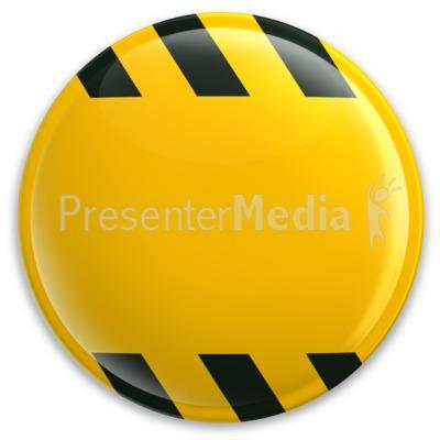 Yellow Button Caution Construction Presentation clipart