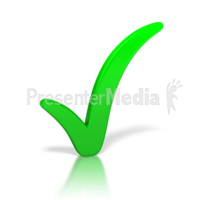 check mark image. Check Mark Green