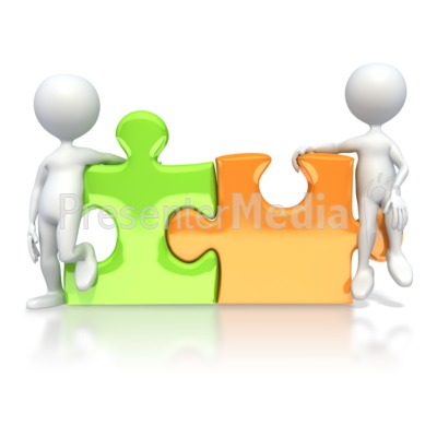 Puzzle Pieces Connected  Presentation clipart