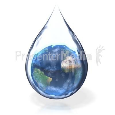Earth Water Drop Presentation clipart