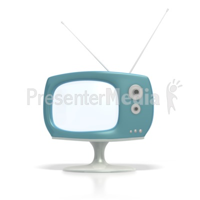 Vintage Television  Presentation clipart