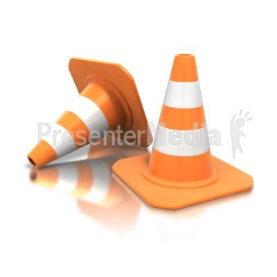 Construction Cone Pair Presentation clipart