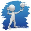 ID# 3638 - Stick Figure Volleyball Icon - Presentation Clipart