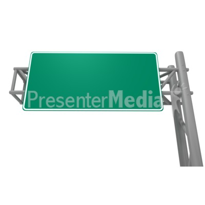 Blank Freeway Sign Presentation clipart