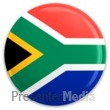 ID# 3657 - South Africa Flag Button - Presentation Clipart