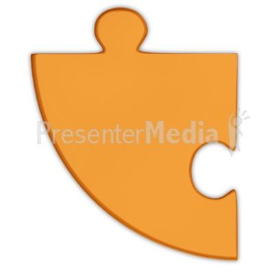 Pie Chart Puzzle Piece Orange  Presentation clipart