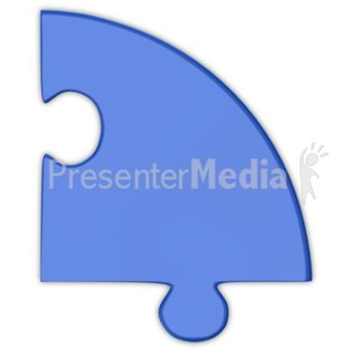 Pie Chart Puzzle Piece Blue  Presentation clipart