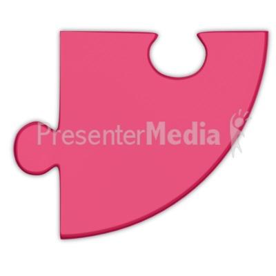 Pie Chart Puzzle Piece Magenta Presentation clipart