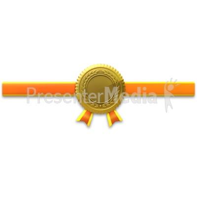Gold Seal Horiztonal Ribbon Presentation clipart