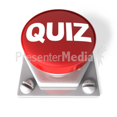 red quiz buttonclip art of a