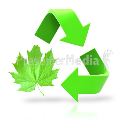 Leaf Circle Recycle Arrows Presentation clipart