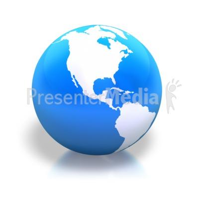 Earth Americas Blue Shiny Presentation clipart