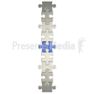 Puzzle Piece Connect  Presentation clipart