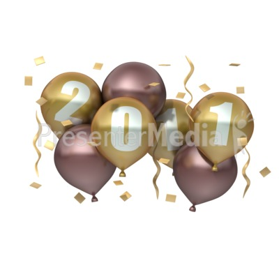 Birthday Cakes  on New Years Eve Clip Art