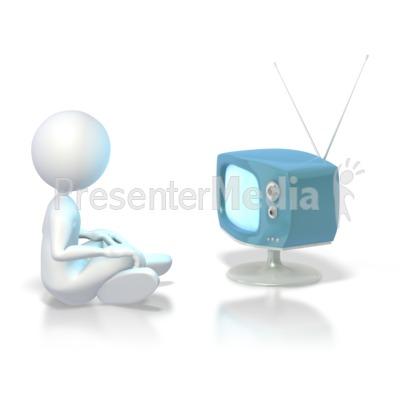 watching tv clipart. Stick Figure Watching Tv