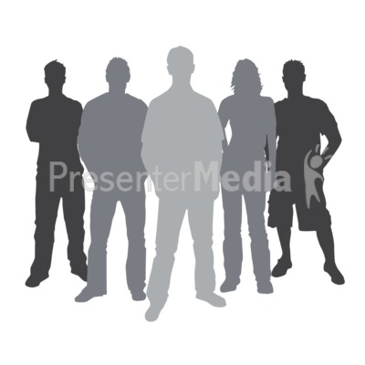 Group Casual People Silhouette Presentation clipart