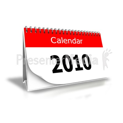 2010 Desk Calendar PowerPoint Clip Art
