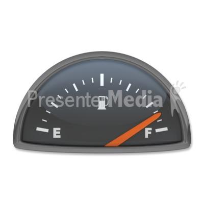 Fuel Gauge Full Presentation clipartFuel Gauge Clipart