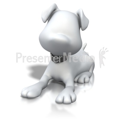 Stick Figure Dog Laying Down Presentation clipart