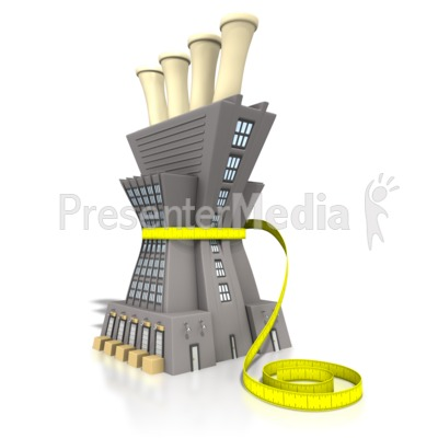 Lean Manufacturing Tape Measure Presentation clipart