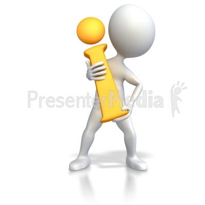 Stick Figure Holding Information i  Presentation clipart