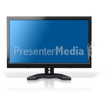 Computer Monitor Blue Screen Presentation clipart