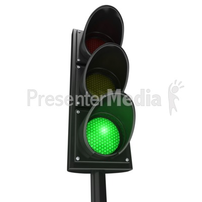 Traffic Light Green Go PowerPoint Clip Art