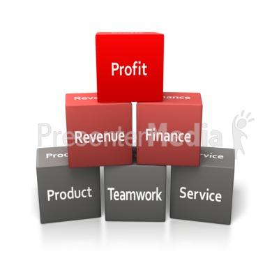 Building Blocks Business Presentation clipart