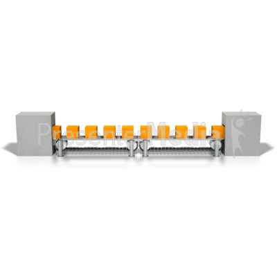 Conveyor Orange Boxes Assembly Line Presentation clipart