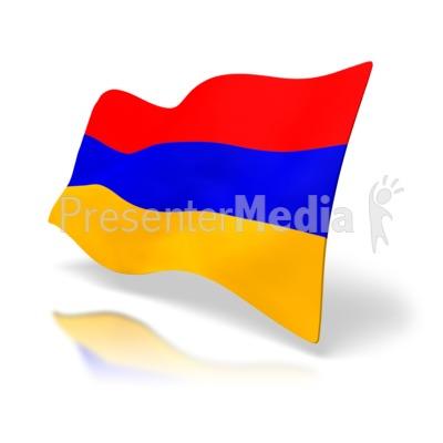 Armenia Flag Presentation clipart