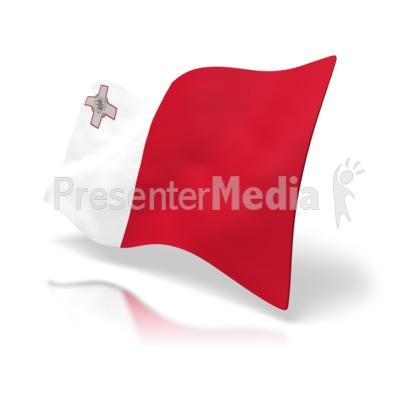 Malta Flag Presentation clipart