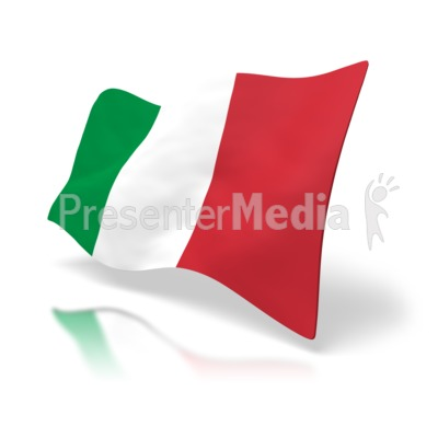 Italy Flag Signs And Symbols Great Clipart For Presentations