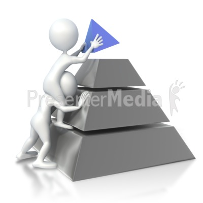 Figures Build Pyramid Presentation clipart
