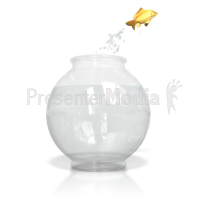 Clip Art Fish Bowl. Fish Jumping Out of Water