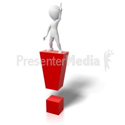 Stick Figure Idea Exclamation Mark Presentation clipart