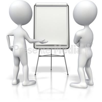 Stick Figure Flipboard Discussion  Presentation clipart