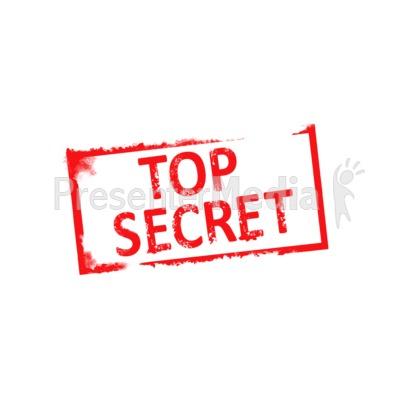 Top Secret Rubber Stamp Presentation clipart