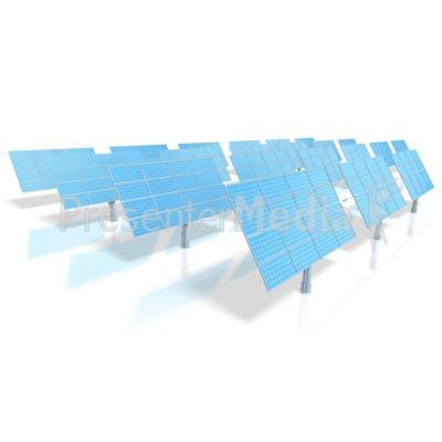 Solar Energy Power Panels  Presentation clipart