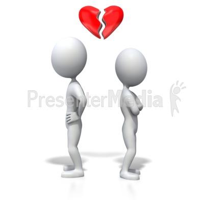 Stick Figure Heartbreak Presentation clipart