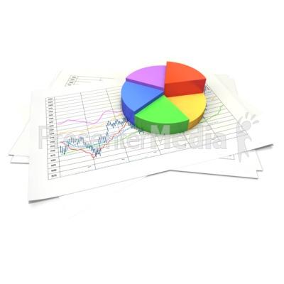 Circular Pie Chart Data Sheet Presentation clipart